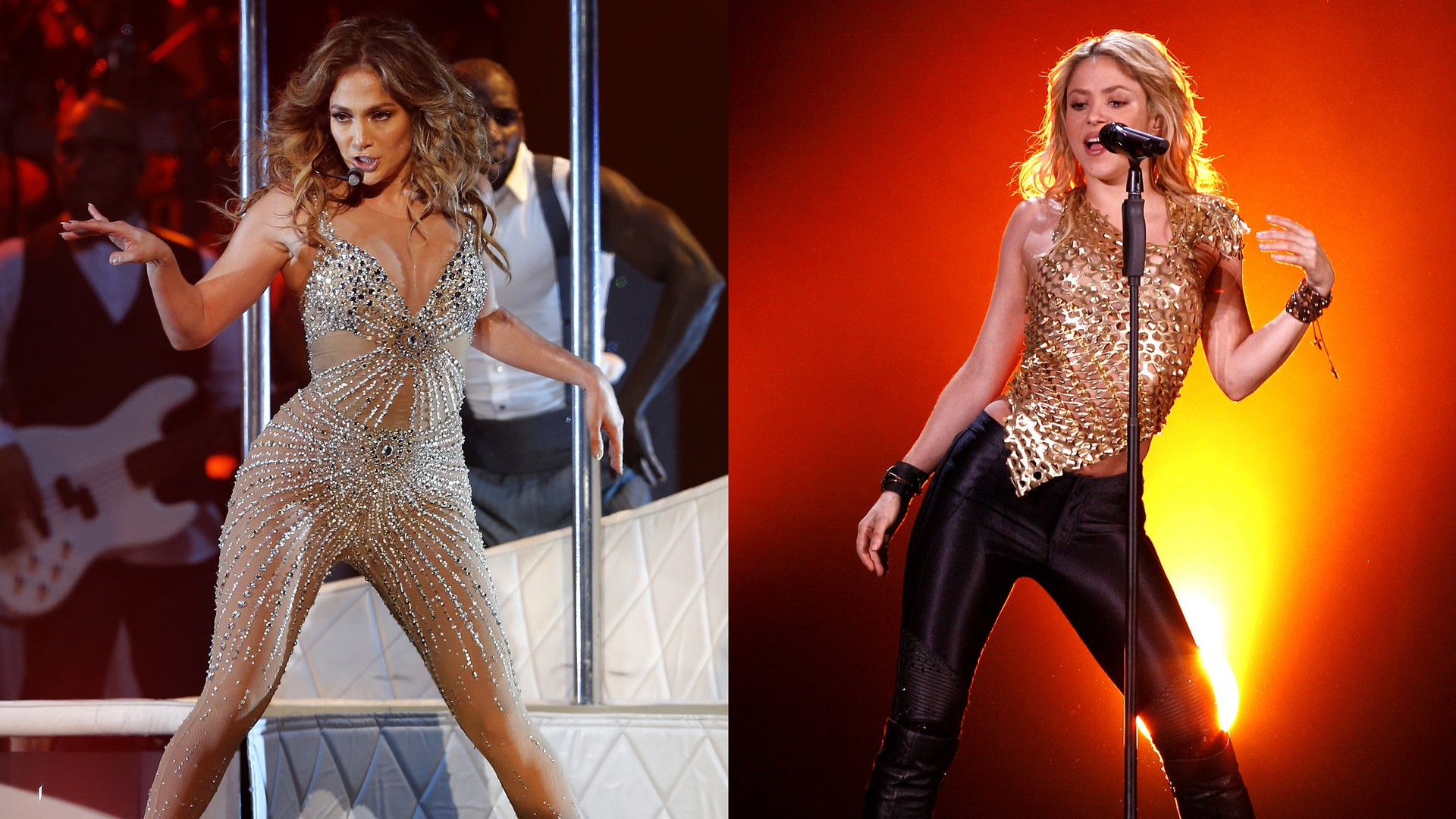 Skakira y Jennifer Lopez presumen cinturita para el SUPER BOWL
