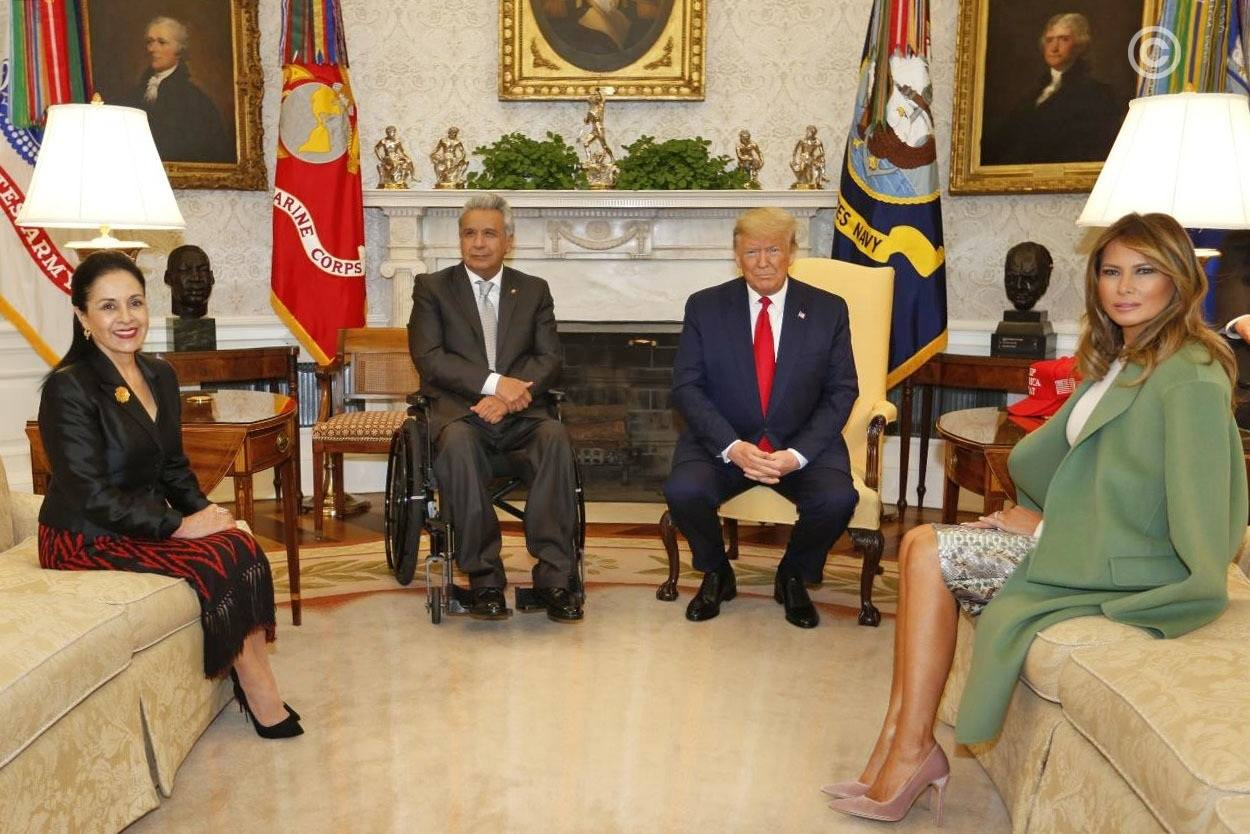 Lenín Moreno recibido por Donald Trump en la Casa Blanca