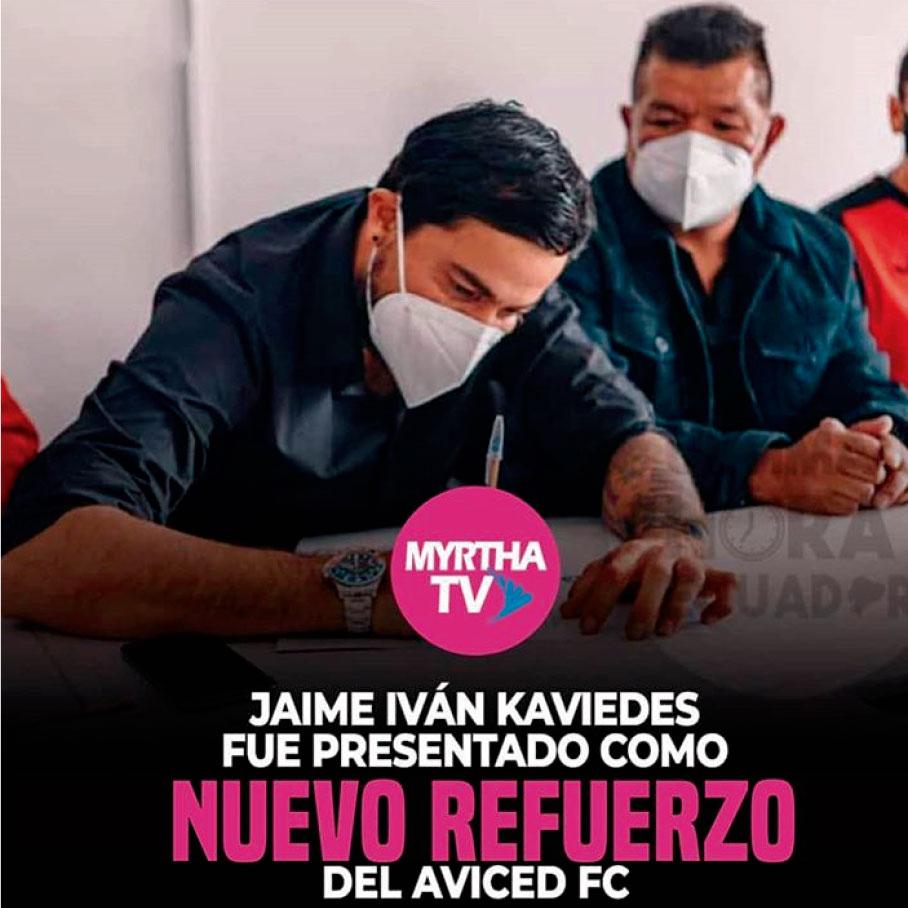 JAIME IVAN KAVIEDES FUE PRESENTADO COMO NUEVO REFUERZO DEL AVICED FC