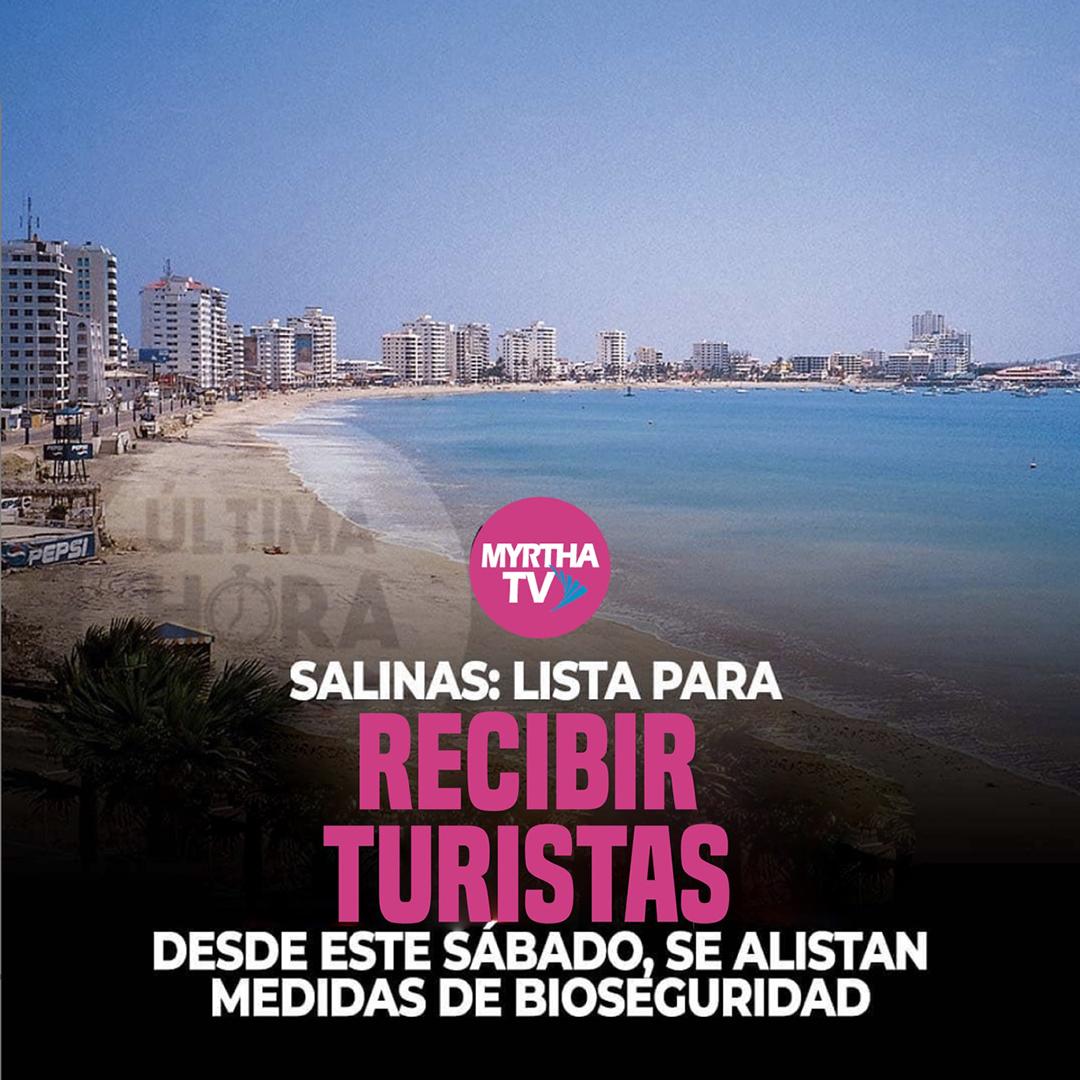 SALINAS: LISTA PARA RECIBIR TURISTAS DESDE ESTE SÁBADO, SE ALISTAN  MEDIDAS DE BIOSEGURIDAD