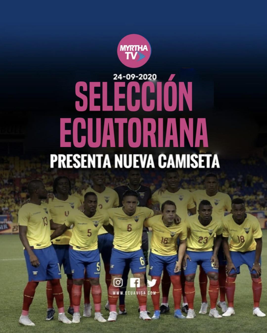 SELECCION ECUATORIANA PRESENTA NUEVA CAMISETA
