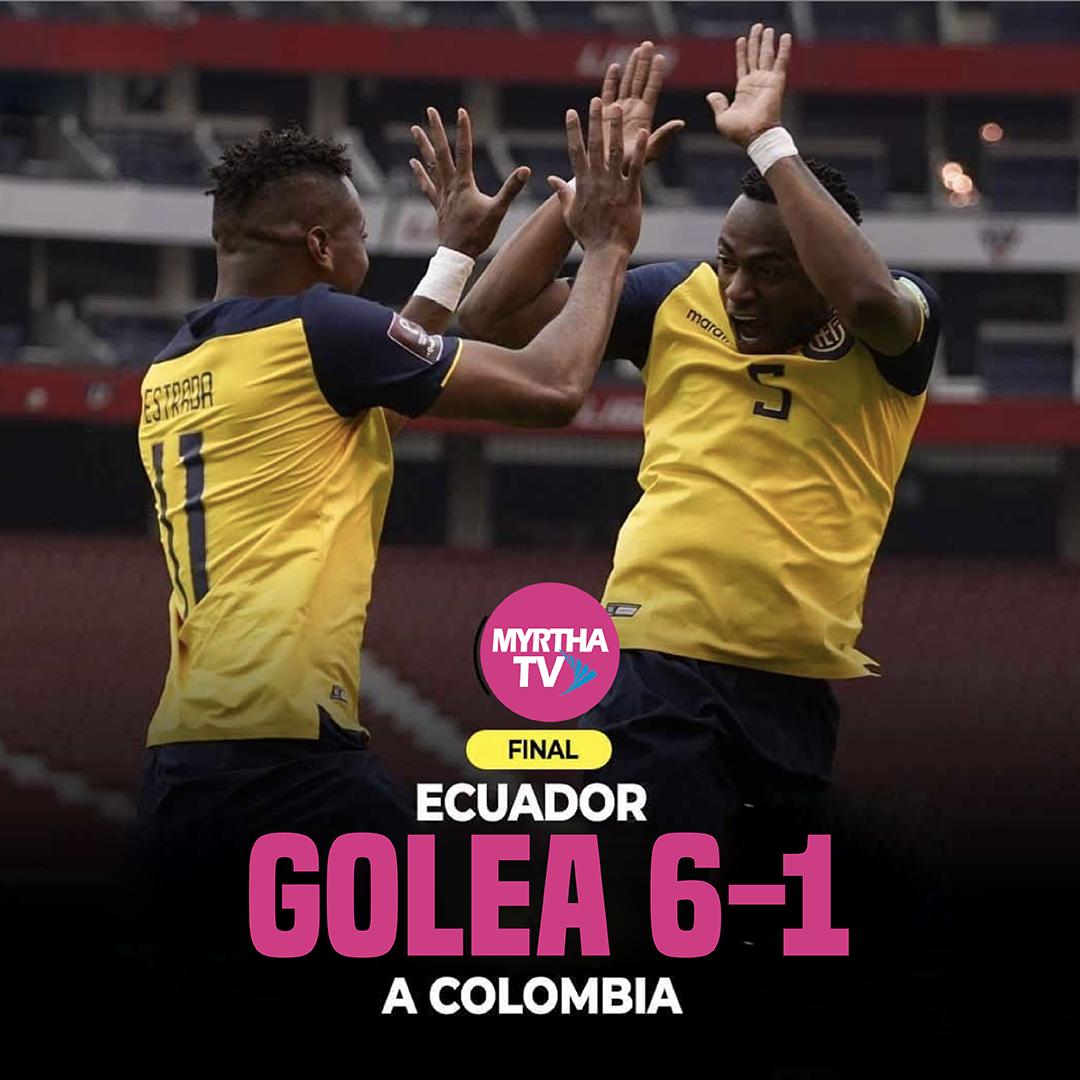 GOLEADA HISTÓRICA ECUADOR 6-1 COLOMBIA