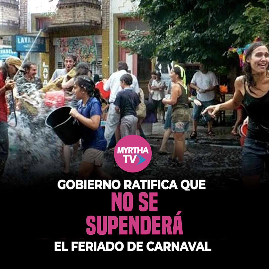 Gobierno ratifica que no se suspenderá el feriado de carnaval
