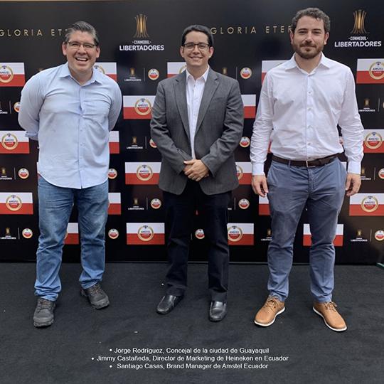 AMSTEL: El TROFEO DE LA CONMEBOL LIBERTADORES LLEGA A LA CIUDAD DE GUAYAQUIL