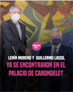 LENÍN MORENO Y GUILLERMO LASSO, YA SE ENCONTRARON EN EL PALACIO DE CARONDELET