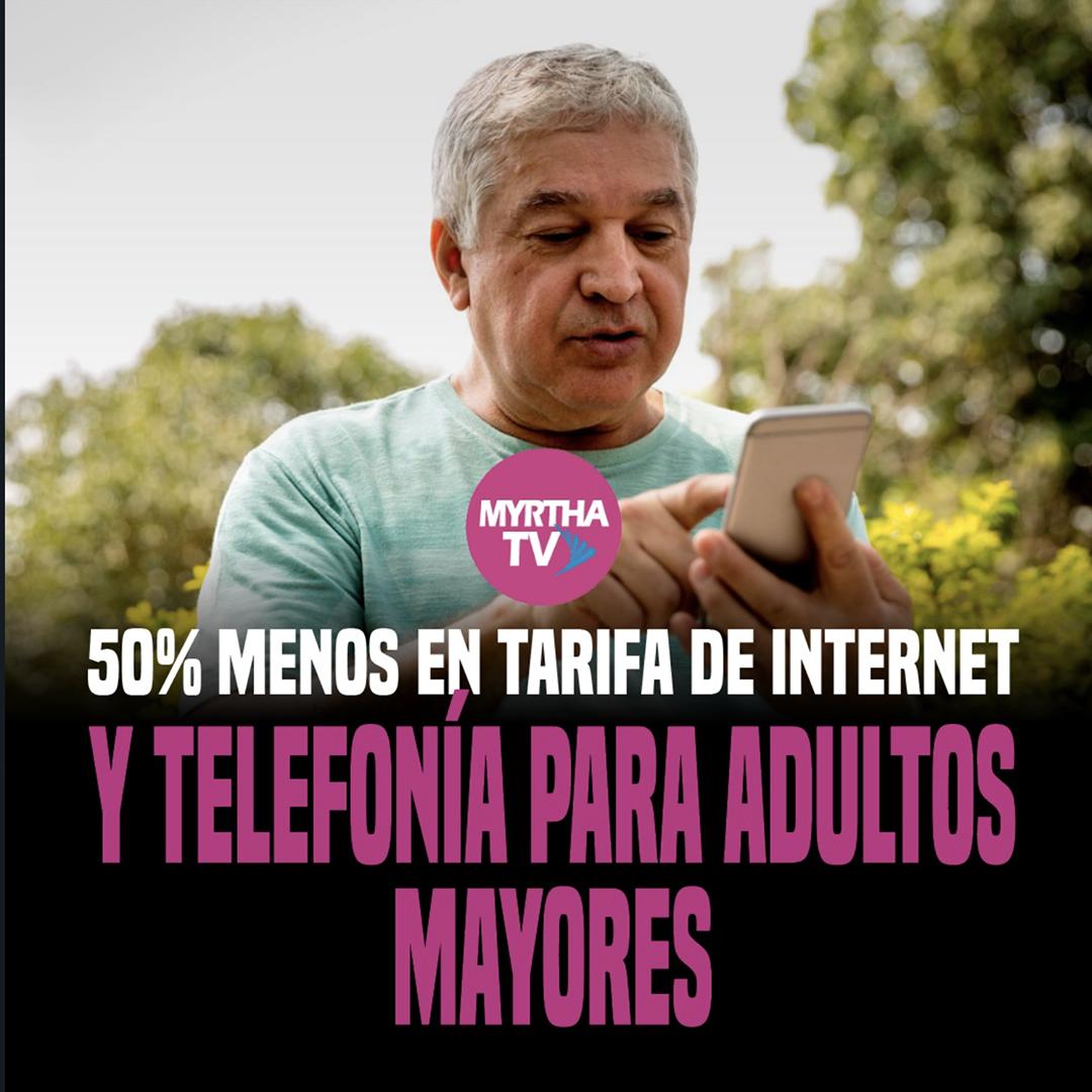 50% MENOS EN TARIFA DE INTERNETY TELEFONÍA PARA ADULTOS  MAYORES