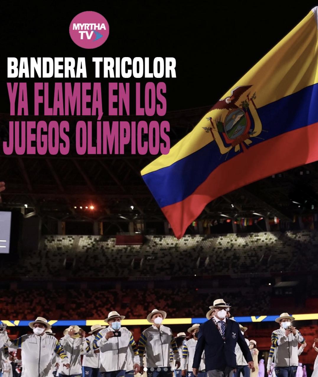 BANDERA TRICOLORYA FLAMEA EN LOS  JUEGOS OLÍMPICOS