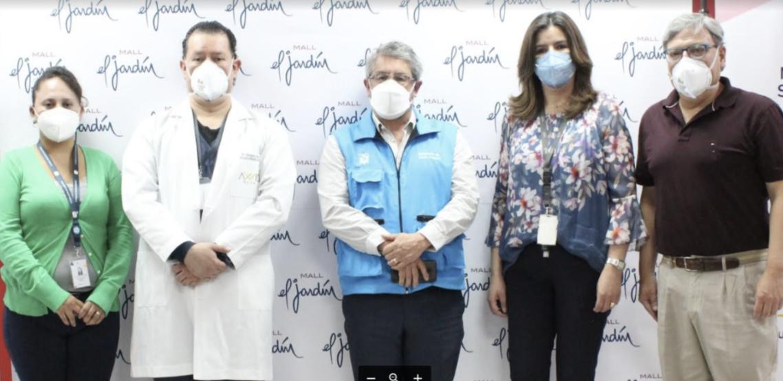 MALL EL JARDÍN INICIÓ JORNADA DE VACUNACIÓN PARA PERSONAL DE LOCALES COMERCIALES, ADMINISTRATIVOS Y FAMILIARES
