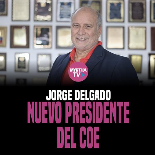JORGE DELGADO NUEVO PRESIDENTE DEL COE